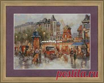 Moulin Rouge by Ivolga (Evgenia Nikotina)-Cross stitch Communication / Download (Cant post new thread only reply)-Cross stitch Patterns Scanned-PinDIY