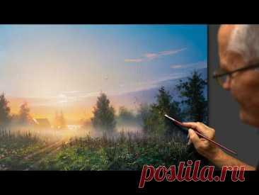 """Sunrise"" Acrylic. Artist - Viktor Yushkevich. #77 photos in 2021."