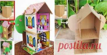 Симпатичные кукольные домики своими руками | Рукоделие