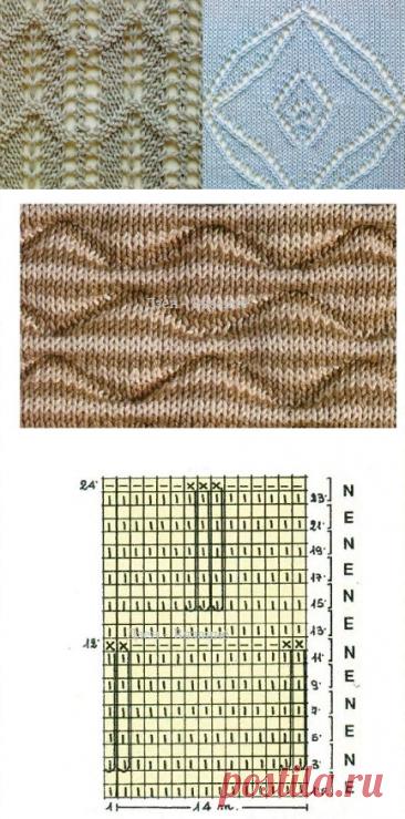 Подборка узоров спицами для летних моделей   Вязание   Яндекс Дзен