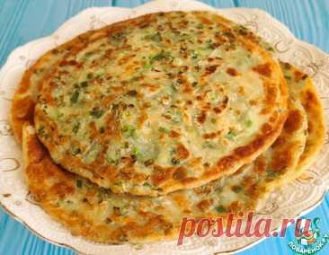 Каттама-слоеная лепешка с зеленым луком – кулинарный рецепт