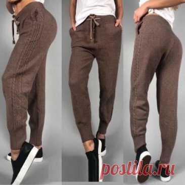 Штаны вязаные   Вязаные штаны. Женские спортивные штаны