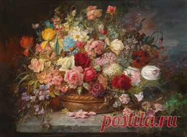 Картина букет цветов в медной вазе pf-122 купить цена | Make.ua
