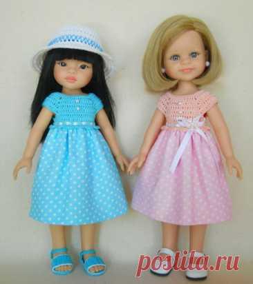 Как сшить и связать простое платье для куклы Паола Рейна