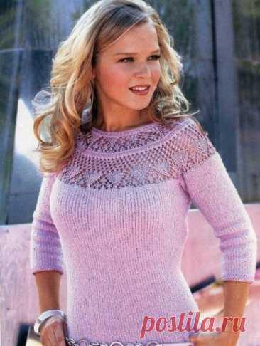 «El vestido color lila con la coqueta redonda de ZHM №545»