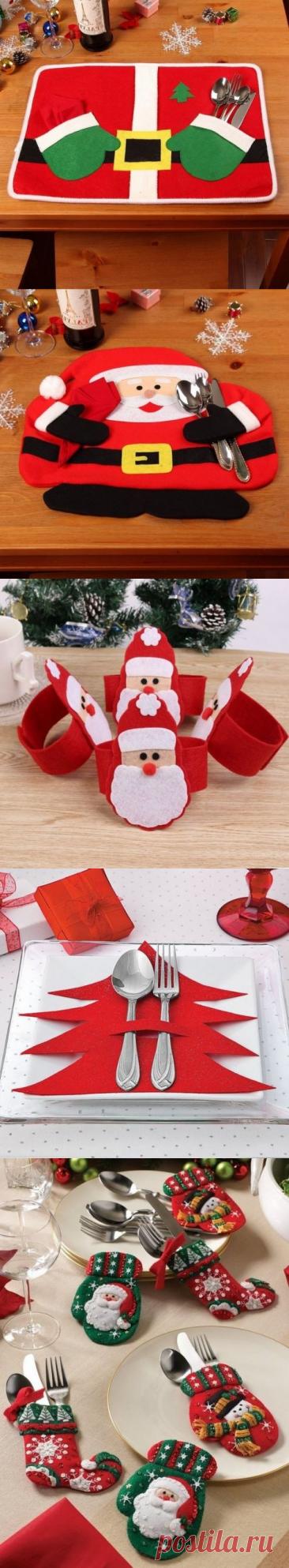 Елочные игрушки и новогодние украшения из фетра своими руками (40 фото)