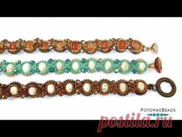Flew the Nest Bracelet - DIY Jewelry Making Tutorial by PotomacBeads