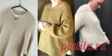 Пуловер оверсайз Shrug (Skulderklap) - Вяжи.ру