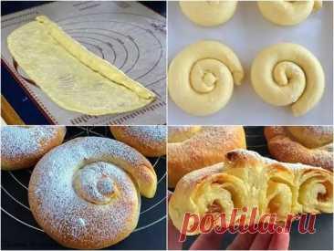 """(4) Испанские булочки """"Ensaimadas"""" - Банк кулинарных рецептов - медиаплатформа МирТесен"""