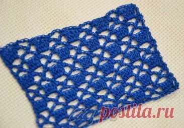 Ажурный узор крючком Квадрат в квадрате 004   Вязание крючком от Елены Кожухарь