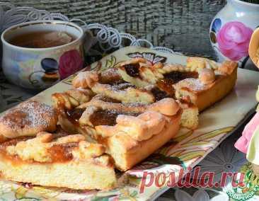 Пирог с вареньем на творожном тесте – кулинарный рецепт