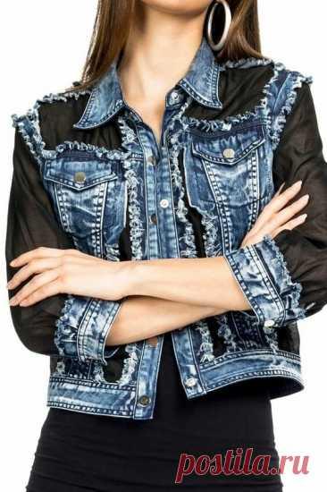 5 идей переделки джинсовой куртки. Получится дизайнерская вещь