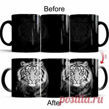 Крутая кофейная кружка tiger king с изменением цвета, 11 унций, лучший подарок для вашего мальчика, Фриды, отца, папы, Подарочная кружка, Прямая поставка Кружки    АлиЭкспресс