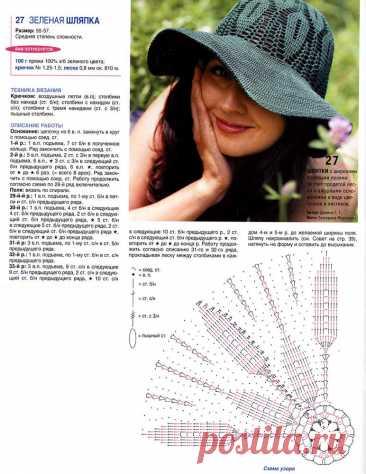 Замечательные шляпки для лета: вяжем по схемам - Это интересно - Шняги.Нет - познавательно-развлекательный блог. Знаменитости, Юмор, Приколы, Видео