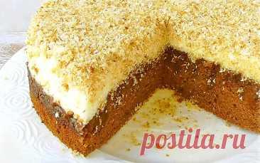 Шоколадный торт с кокосовой стружкой «Опилки» | Рецепты на FooDee.top