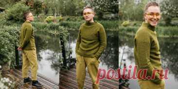 Мужской свитер крючком Alsia - Вяжи.ру