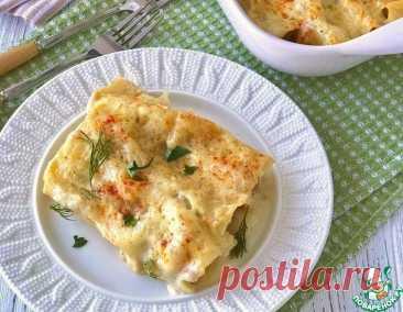 Каннеллони с грибами под сырным соусом – кулинарный рецепт