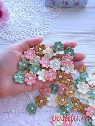 Схемы вязания чудесных цветочков