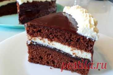 Вкусный шоколадный торт – рецепт с фото