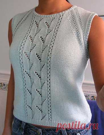 Top with an openwork strip