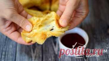 Сырная закуска из слоеного теста - пошаговый рецепт с фото на Готовим дома