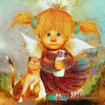 Позитивные ангелы Люси Чувиляевой | Глазами художника | Яндекс Дзен
