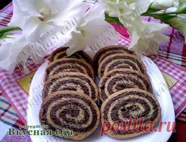 """Домашнее песочное печенье - рецепт на скорую руку Домашнее песочное печенье """"Улитки"""" - рецепт на скорую руку, который пригодится каждой хозяйке! Печенье получается не только вкусное, но и очень красивое!"""
