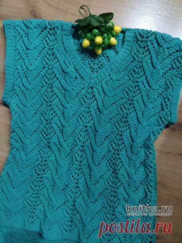 Ажурный жилет/безрукавка спицами. Видео-урок и схема вязания, Вязание для женщин