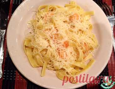 Паста Карбонара с креветками – кулинарный рецепт