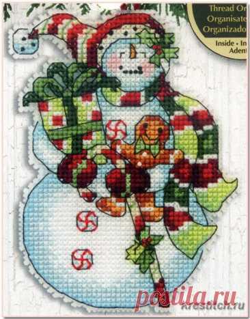 Snowman with Sweets - Снеговик со сладостями (арт.70-08915 Dimensions) набор для вышивания крестом купить в Stitch и Крестик