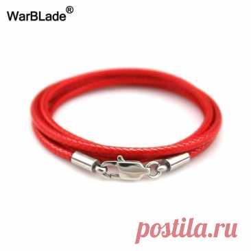 Кожаный шнур WarBLade 1,5 мм, 2 мм, 3 мм, черное ожерелье, цепочка из нержавеющей стали с застежкой-карабином, Круглый вощеный шнур для мужчин и женщин | Украшения и аксессуары | АлиЭкспресс