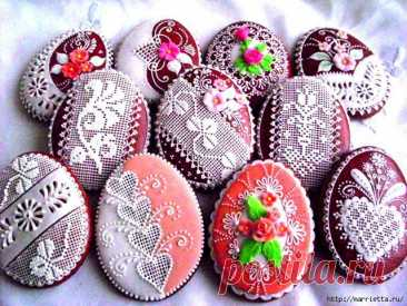 Easter gingerbreads - how to prepare and how to paint (the recipe of glaze)
