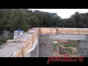 Махошевская, заливка армопояса. Строительство домов под ключ.