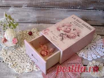 Шкатулка. Розы – купить на Ярмарке Мастеров – FV7T5RU | Шкатулки, Москва