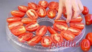 Большая сушка Вялим ПОМИДОРЫ и МЯСО, сушим овощи и зелень Как всё это храню и куда использую!