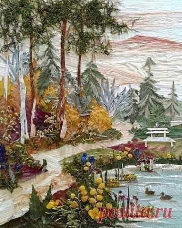 Идеи для творчества: пейзажи из листьев и цветов
