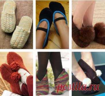 95 идей вязания теплых носков, следков и тапочек