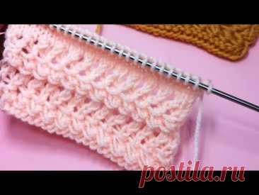 Индивидуальность в вязании. Ажурная кайма (отделка) спицами для манжетов. №203