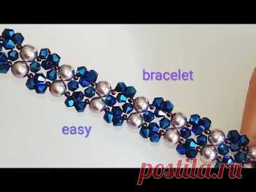 Tutorial: bracelet. DIY. Красивый браслетик. Простой узор