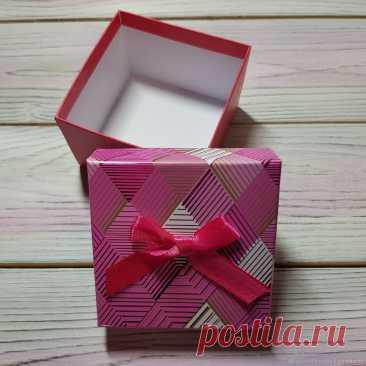 80р-Подарочная коробка квадратная 9 х 9 х 6 см – купить на Ярмарке Мастеров-ВЕСНУШКИН ШОП-- – L79UARU | Коробки, Москва