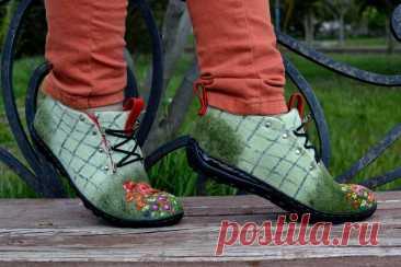 Предлагаю полюбоваться на обувь, сделанную Александрой и Владимиром, супругами из Феодосии | Подушкины секреты | Яндекс Дзен