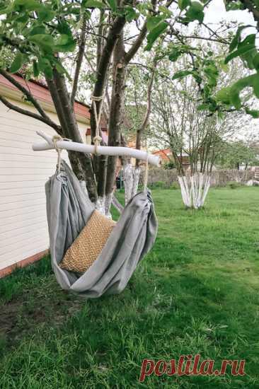 Как сделать гамак своими руками из ткани для дачи, пошаговый мастер-класс — как сшить подвесное кресло-гамак | Houzz Россия