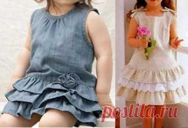 Платье для девочек с рюшами - Бесплатные выкройки