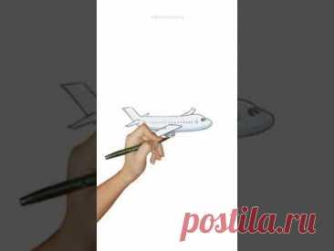 Нарисовала  самолет - YouTube