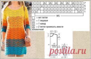 Готовимся к лету: 15 ярких цветных джемперов со схемами - вязание спицами - в копилку мастериц | МНЕ ИНТЕРЕСНО | Яндекс Дзен