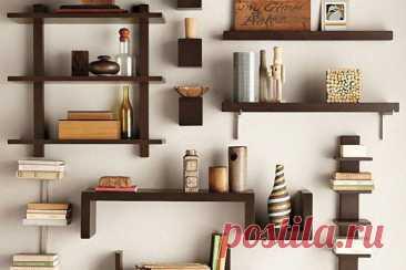 Оригинальные идеи настенных полок Найти места для хранения — одна из главных задач, с которой сталкиваются люди во время продумывания дизайна, да и после него тоже. Иногда даже в большой комнате неуместно будет выглядеть еще один гром...