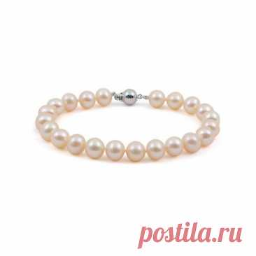 8.760 р-Ожерелье из натурального розового жемчуга классической длины 40 см