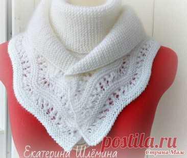 Белый шарф с каймой