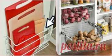 10 бесподобных идей, которые решат проблему хранения на маленькой кухне - Квартира, дом, дача - медиаплатформа МирТесен