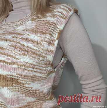 Жилет спицами ГЕОМЕТРИЯ // Мастер-класс | Вязание для женщин спицами. Схемы вязания спицами